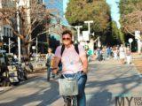 Ротшильд бульвар, жираф на велосипеде