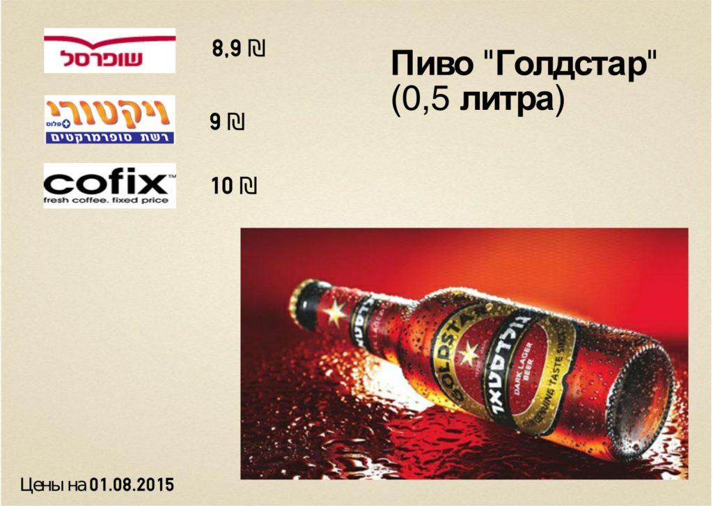 цена на пиво в тель-авиве