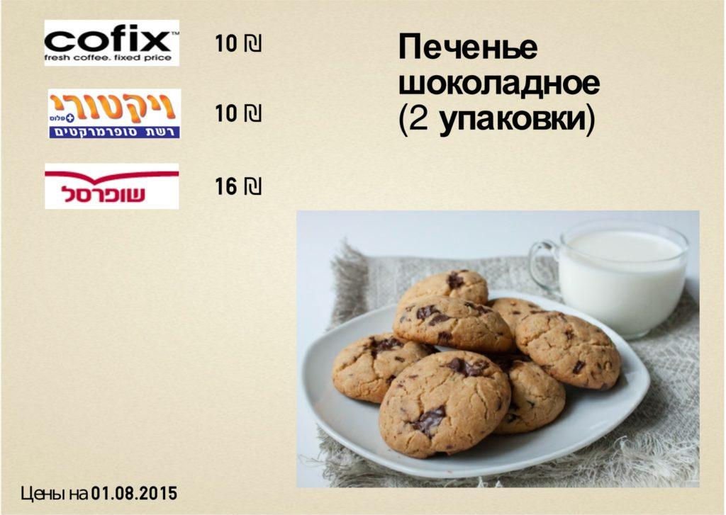 цена на печенье в тель-авиве