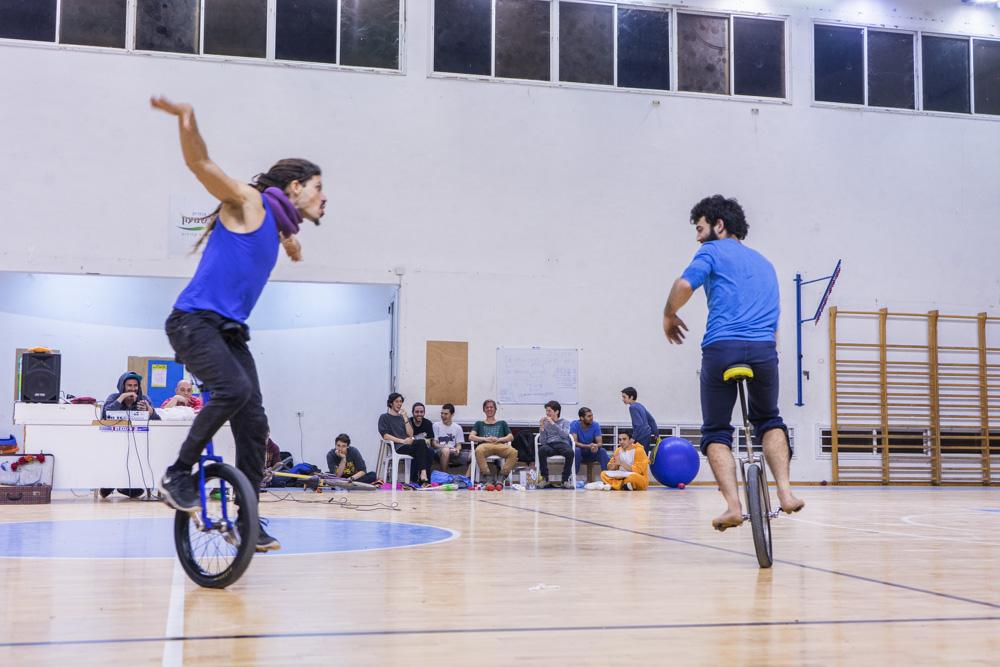 тренировка перед конвенцией жонглеров